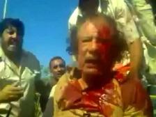 Обнародована новая видеозапись последних минут Каддафи