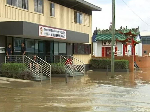 В австралии из за сильного наводнения