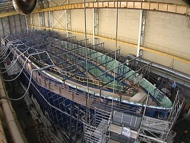 В Санкт-Петербурге построен первый военный корабль из стекловолокна