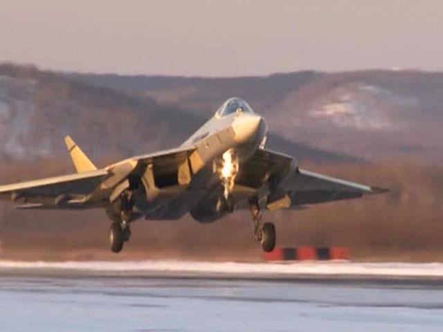 Primeiro voo do terceiro protótipo do PAK FA T-50